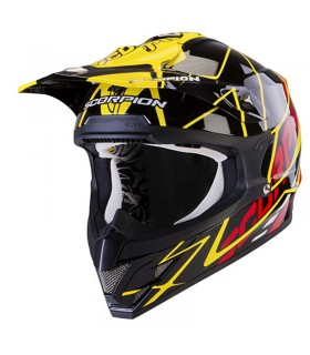 Casque SCORPION VX-15 AIR SPRINT NOIR-JAUNE-ROUGE