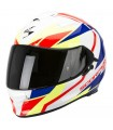 Casque SCORPION EXO-510 AIR FUJIN - Blanc nacré-Rouge-Bleu