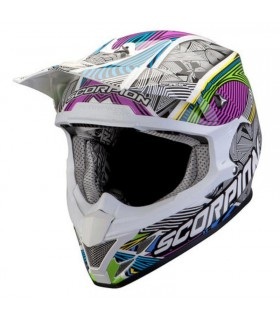 Casque SCORPION VX-20 Air GEO Blanc-Noir-Multicolor